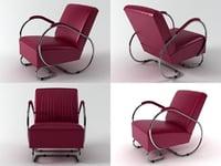tube armchair 3D model