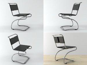 halabala chair h-79 3D model