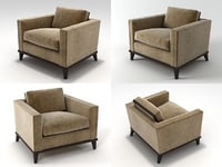 3D hudson club chair