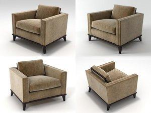 3D hudson club chair