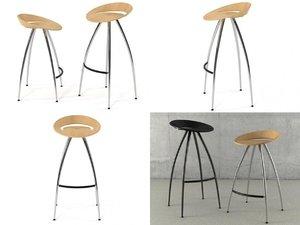 3D lyra stools