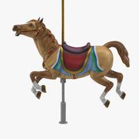 carousel horse v7 3D