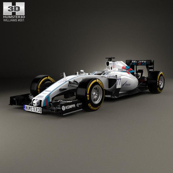 3D williams fw37 fw model
