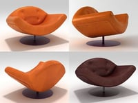 gaivota armchair 3D model