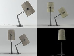 fork table lamp model