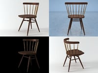 nakashima straight chair 3D model
