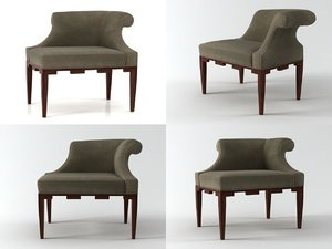 castle corner chair 3D model