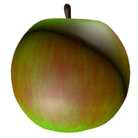 3D green apple model