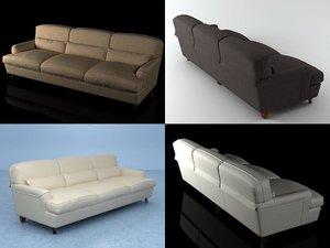 3D raffles threeseater sofa