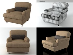 3D raffles armchair model