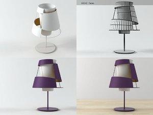 3D model crinolina table lamp