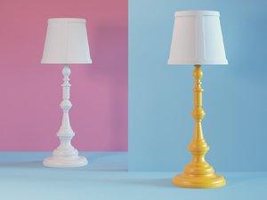 3D model paper floor lamp