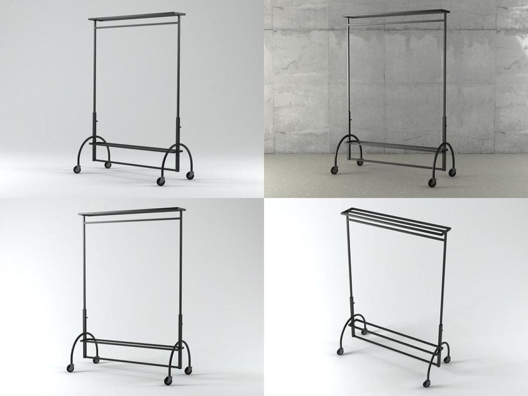 3D clothes rack model