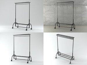 3D clothes rack model