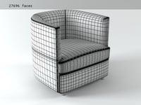 3D model armchair w