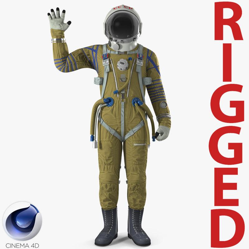 ussr space suit strizh 3D