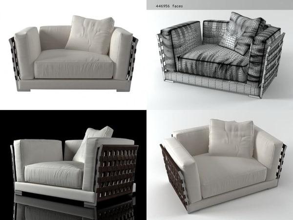 3D cestone armchair 140
