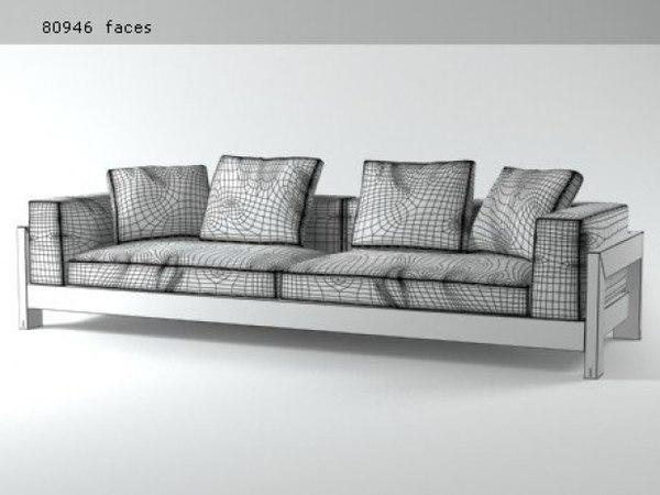 alison black sofa 280 3D model