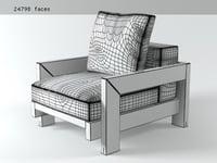 3D alison black armchair