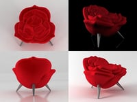 3D rose chair