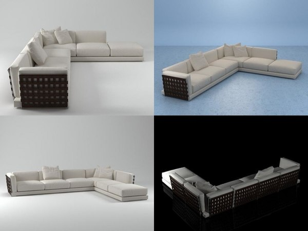 cestone sofa set01 3D