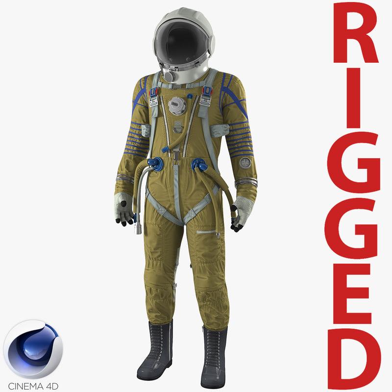 space suit strizh sk-1 3D model