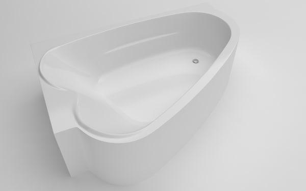 bathtub 178x105x56 5 3D model
