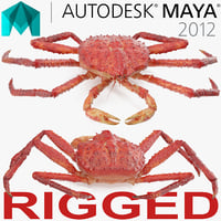 Red King Crab Rigged for Maya