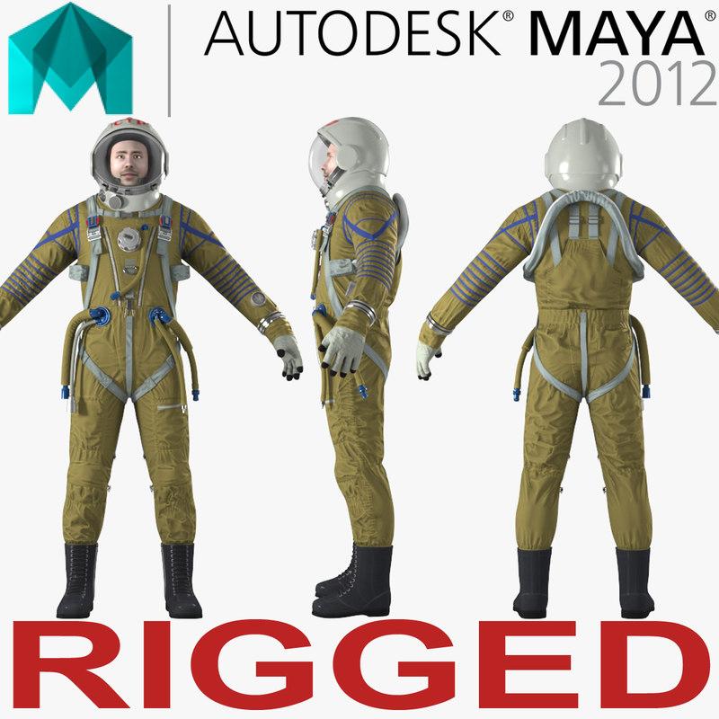 3D astronaut wearing space suit