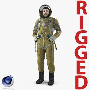astronaut wearing space suit 3D