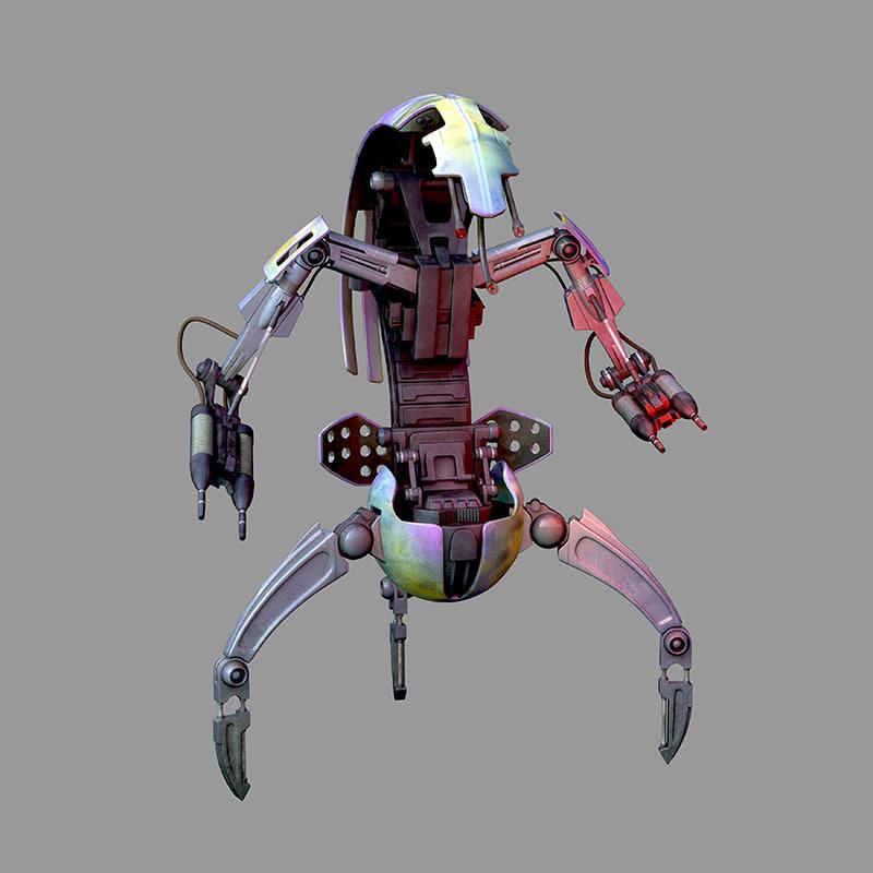 3D droideka star wars model