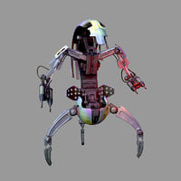 3D droideka star wars model