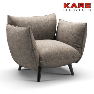 3D folded chair kare model