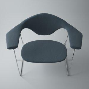 3D masculo lounge chair gubi