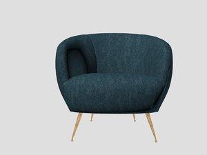 souffle chair valdesa rain 3D model