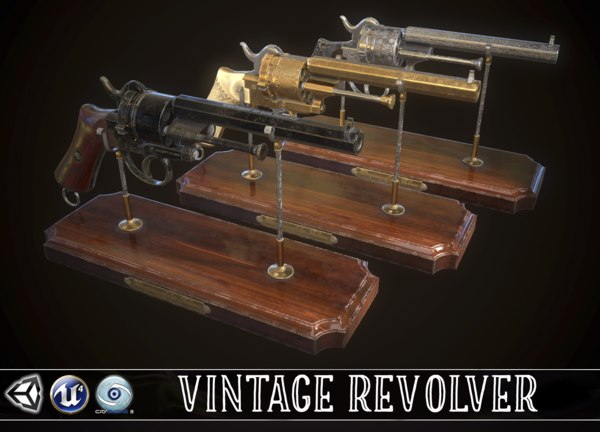 revolver vintage 3D