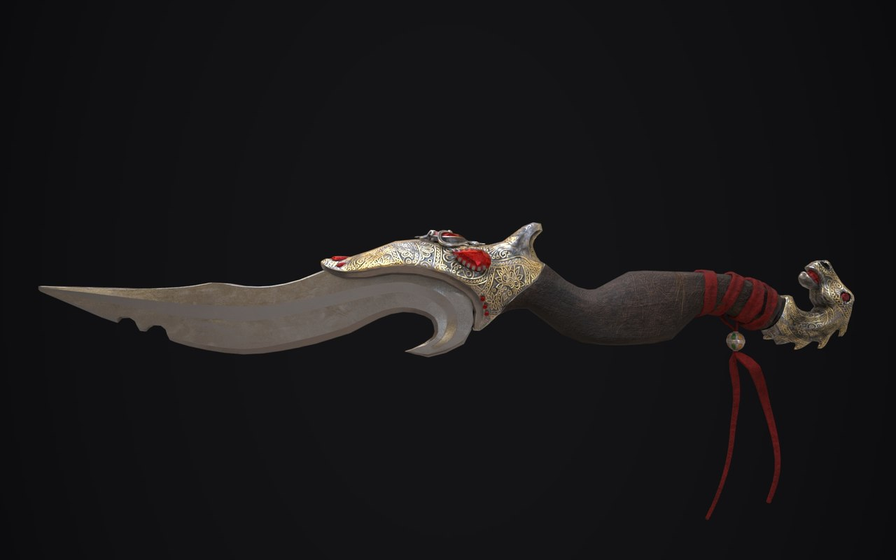 3D model middle eastern dagger