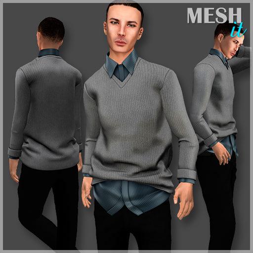 3D male sweater