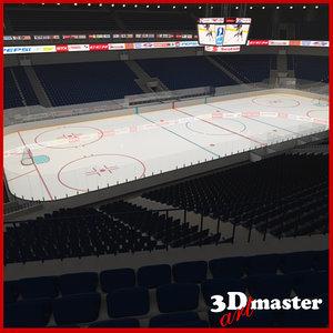 3D ice hockey arena model