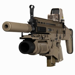 3D assault rifle fn scar