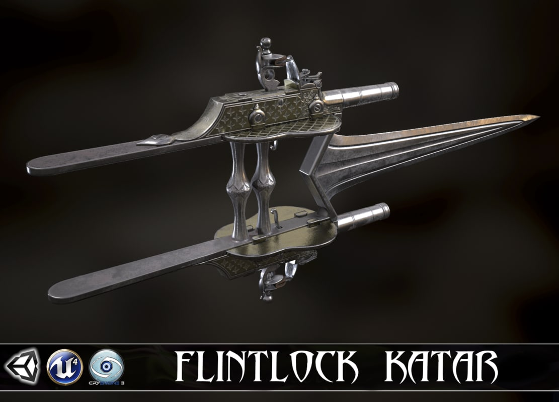 3D defender faith - flintlock model