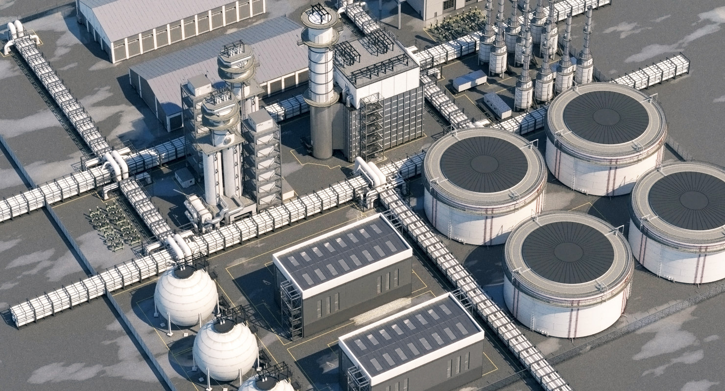 refinery realistic model