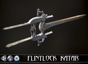 3D silver lord - flintlock model