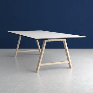 3D t1 table fix tabletop model