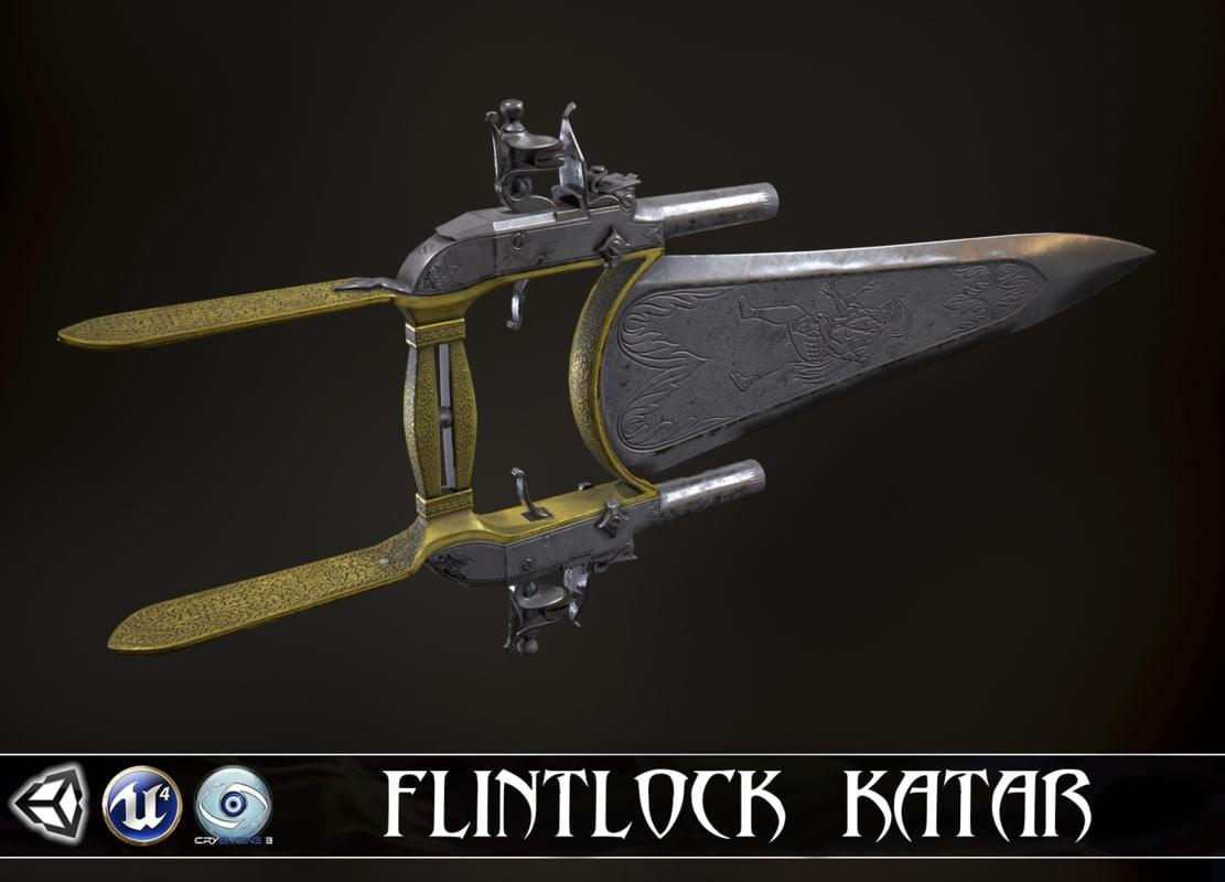 wrath goddess - flintlock 3D model
