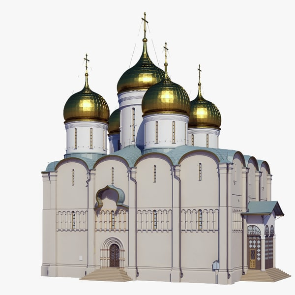 russian dormition cathedral 3D model