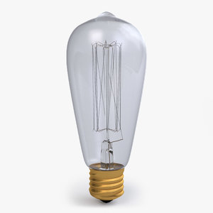 3D edison lightbulb model