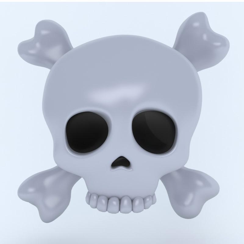 bones crossbones icon model