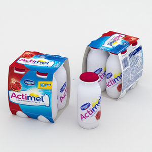 3D actimel pomergrenate