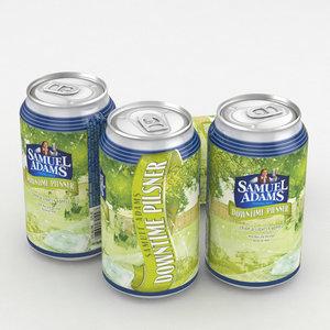 3D model beer samuel adams